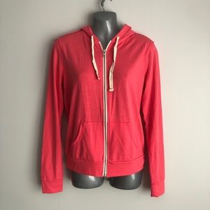 Abbot main coral zip cup hoodie small NWT